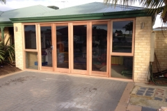 Customised bifold doors