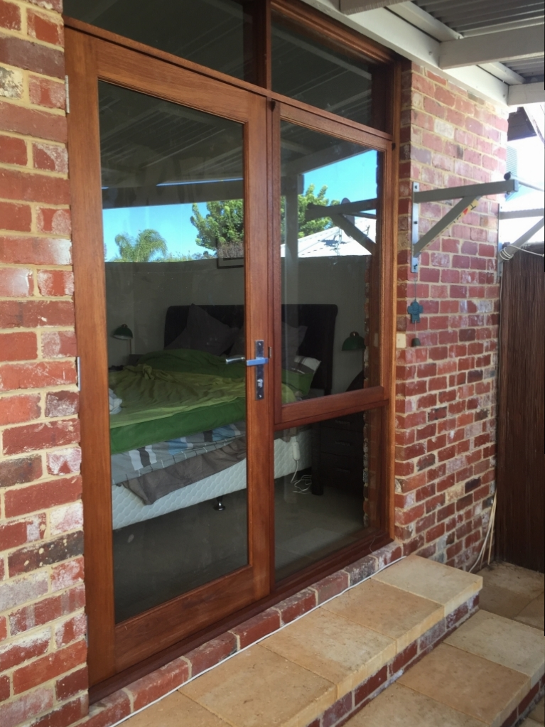 timber door and awning sidelite