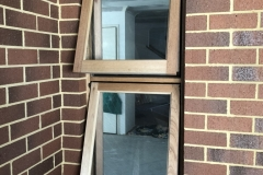 awning timber window