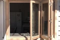 bifold timber window