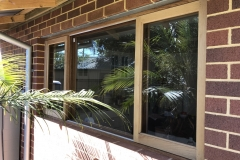 sliding timber window